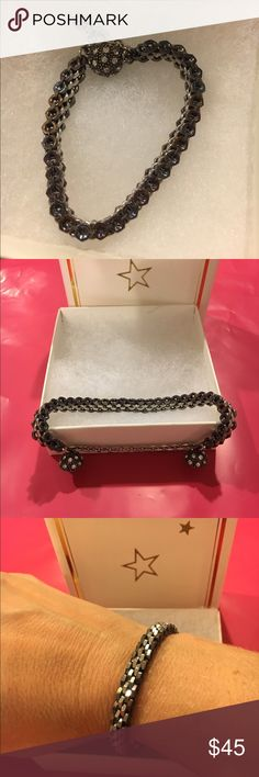 """Hex Nut Bracelet Hex Nut Bracelet - 7"""" w/magnetic ball clasp - hex nuts are silver in the middle and dark w/rainbow finish on the outside Jewelry Bracelets"""