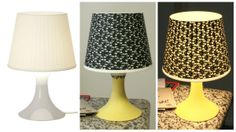 Ikea LAMPAN Hack! Some tape, some paint and Voilà! Cute little side lamp :)