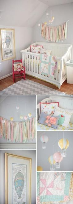 I really like the basket look above the changing table... other cute ideas for a girls room by eddie