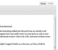 WordPress Visual / HTML Editors Difference