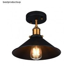 #Ebay #Ceiling #Light #Rustic #Fixture #Vintage #Industrial #Metal #Hanging #Mount #Semi #Flush  #OakLeaf #Traditional