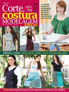 Artesanato - Tecidos - Corte Costura : CORTE COSTURA E MODELAGEM ESP 001 - Editora Minuano