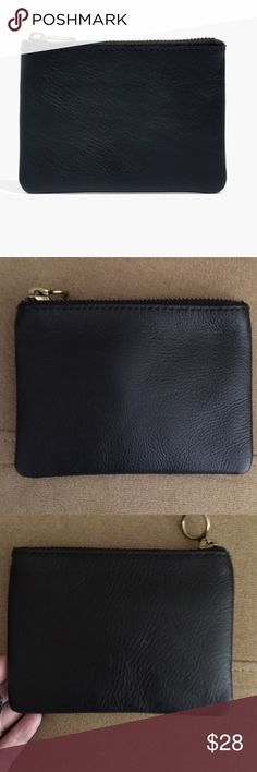 """MADEWELL the leather pouch wallet This deceptively small leather pouch has slots for all your cards and cash.    Made of vegetable-tanned leather that burnishes with wear into a beautiful patina. Please note: As it is made of a natural material, each pouch varies slightly in texture and color. Zip closure. Interior pockets. 4""""H x 5 3/8""""W. Import. Brand new with tags.   No trades. Price Firm. Bundle for further discounts. Ships in 24hrs. Gift with purchase Madewell Accessories"""