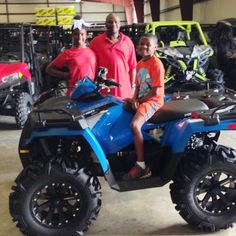 Thanks to Khyrean, Bobby and Brycen Jones from Vicksburg MS for getting a 2016 Polaris Sportsman 450 at Hattiesburg Cycles