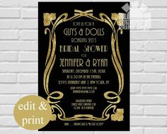 Bridal Shower, Roaring 20s, Great Gatsby, Couples Shower, Art Deco By SPICED APPLE PARTIES