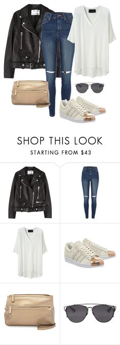 """""""Untitled #554"""" by annap-style ❤ liked on Polyvore featuring Acne Studios, River Island, Thakoon Addition, adidas, Givenchy and Christian Dior"""