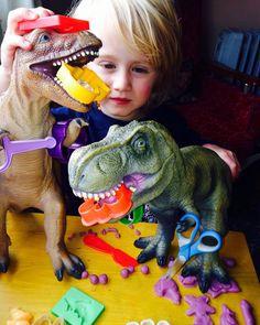 dinosaur playdough fun - roarrrr! (IMAGE: The Art Box)