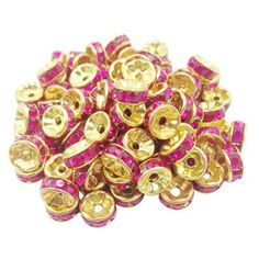 Hot 50 pcs/lot 8MM 2015 Fashion DIY Gold plated Wheel Charm Loose Spacer Matal Beads for Jewelry Making Free Shipping Wholes LIF