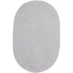 Capel Custom Classics Braided Moonstone Area Rug Rug Size: Oval 2' x 3'