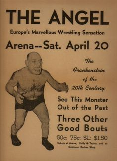 Maurice Tillet - The French Angel Wrestler - Death Masks on . Angel In French, Awa Wrestling, The Frankenstein, Angel Pictures, Science Facts, Movie Characters, Real Man, Good People, Vintage Photos