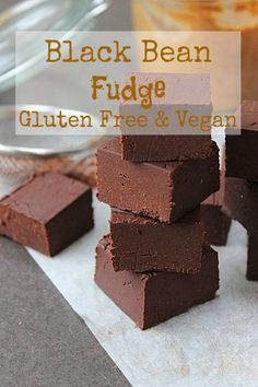 Black bean fudge with dates, coconut oil, almond butter and vanilla extract