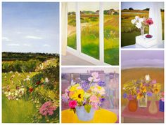 Details from paintings by Jane Freilicher