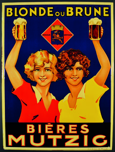 bières Mutzig, blonde ou brune - 1930's -