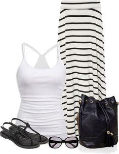 Beach ready... (change to black tank top) maxi dress #anna7891 #style for women #womenfashionwww.2dayslook.com