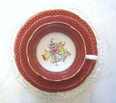 Vintage Grafton China Tea Trio Cabinet Style by TheWhistlingMan