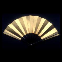 Japanese Dance Fan Mai Ogi Gold F74 by VintageFromJapan on Etsy