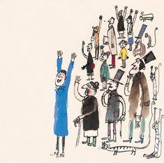 Javier Zabala very Quentin Blake. Children's Book Illustration, Watercolor Illustration, Books Art, Tinta China, Children's Picture Books, Conte, Drawing People, Illustrations Posters, Illustrators