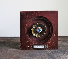 I Am Watching You - Vintage Bullseye Architectural and Doll Eye Decorative Block