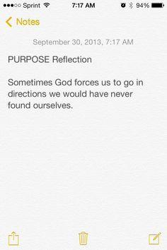 PURPOSE Reflection.