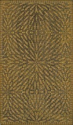 Green/yellow geometric pattern rug. #rugs #homedecor