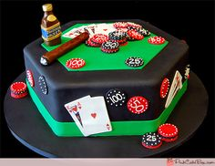 Happy Birthday Poker Cake