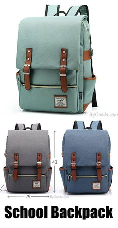 Vintage Canvas Travel Backpck Leisure Backpack&Schoolbag  <3 Which color do you like? It is a perfect school backpack!  #backpack #rucksack #college #bag #school #student #book
