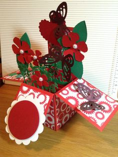 card in a box just for you Just For You, Christmas Ornaments, Holiday Decor, Box, How To Make, Cards, Home Decor, Snare Drum, Decoration Home