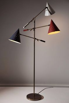 View this item and discover similar for sale at - Rare Triennale floor lamp by Lightolier designed in the US, circa Original color and finish. Enameled perforated metal shades with fiberglass diffusers. Patio Furniture Cushions, Diy Outdoor Furniture, Lamp, Modern Floor Lamps, Rustic Furniture Diy Projects, Outdoor Furniture Design, Outdoor Furniture Ideas Backyards, Diy Modern Furniture, Metal Furniture