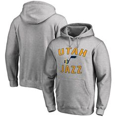 6adb4436866 Utah Jazz Big   Tall Victory Arch Pullover Hoodie - Ash