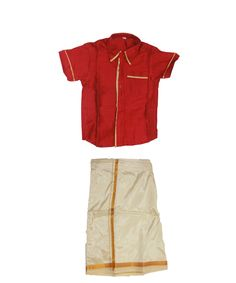 Red shirt dhoti for boys .. www.princenprincess.in
