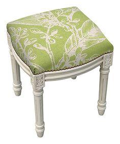 Chartreuse Floral Vanity Stool #zulily #zulilyfinds