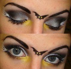 Cute bat make-up