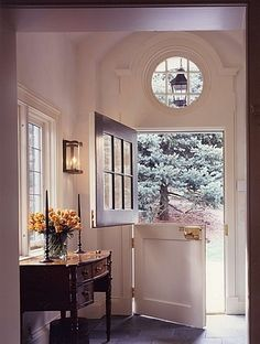 love a dutch door..................I love doors like this