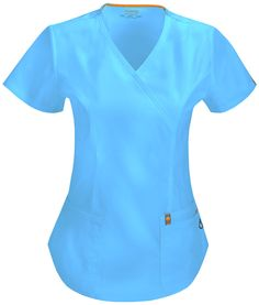 We love this new line of Code Happy antimicrobial scrubs!  http://www.scrubshopper.com/products/21786-womens-certainty-mock-wrap-top