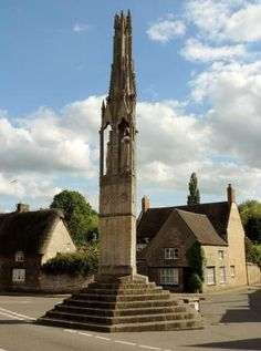 Queen Eleanor Cross in Geddington, Northamptonshire, England