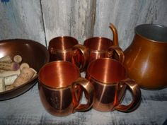 Moscow Mule Solid Copper Mugs Set of 4