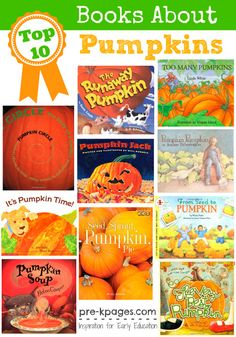 Pre-K books to read. Best Pumpkin Pre-K and Kindergarten books. Pumpkin books for preschool, pre-k, or kindergarten for a fall, farm, or Halloween theme. The best books about pumpkins to read-aloud to kids. Halloween Activities, Autumn Activities, Halloween Themes, Book Activities, Preschool Activities, Halloween Crafts, Fall Crafts, Halloween Books, Language Activities