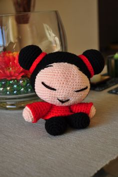 Pucca free pattern. Spanish. My version a bit different, I made the body, legs and arms smaller.