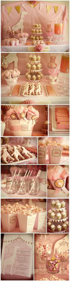Soft pink Giraffe Baby Shower from http://www.mygoodgreetings.com/blog/post/2012/03/09/For-the-love-of-Pink!-Its-a-Girl-Pink-Giraffe-Baby-Shower.aspx