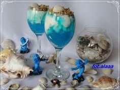 Deser w błękicie z granolą