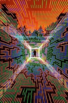 Opthalite — Untitled by Dan Whitaker [Light Art - Light Installation - Light Painting - Light Exibithion] Psychedelic Art, Psy Art, Art Graphique, Visionary Art, Light Painting, Painting Art, Light Art, Optical Illusions, Oeuvre D'art