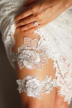 Beautiful wedding garters for your Wedding Day.  A lovely gift to give the Bride, the finishing touch to her Wedding Dress