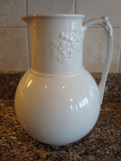 Beautiful vintage large white ironstone by HeathersCollectibles, $74.95