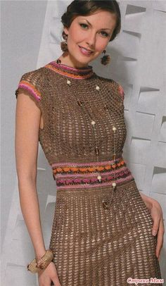 Fishnet Dress free crochet graph pattern
