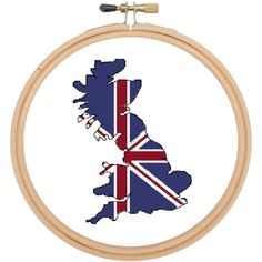 Cross stitch pattern  Great Britain union jack £2.40 by CraftwithCartwright