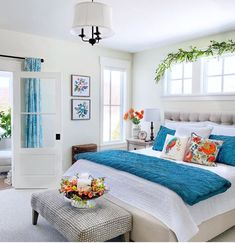 47 Attractive Colorful Bedroom Décor And Ideas For Summer - Designing your home should suit your taste. Gone are the days of strict decorating rules and narrow room definitions. Where dining rooms were once for. Bedroom Colors, Bedroom Decor, Bedroom Ideas, Bedroom Designs, Bedroom Inspiration, Interior Inspiration, Pantone, Decor Interior Design, Interior Decorating