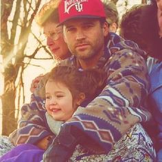 #TBT with an adorable young @mileycyrus with her dad Billy Ray Cyrus!