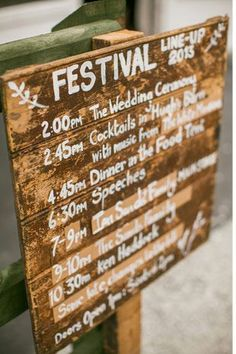 festival wedding sign Read more on http://onefabday.com/festival-style-wedding-ideas/