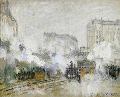 Claude Monet - C.Monet, Bahnhof Saint-Lazare