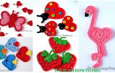 Crochet Heart Shaped Applique Free Patterns By Golden Lucy Crafts